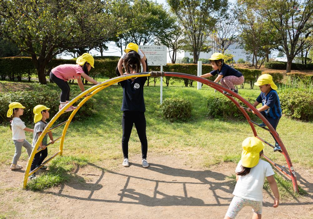 藤沢奥田公園で遊ぶげんき組
